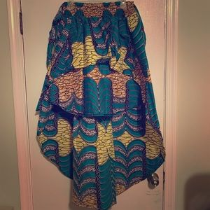 Teal pattered skirt
